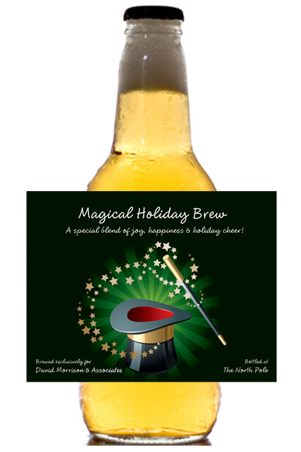 Holiday Magic Theme Beer Bottle Label