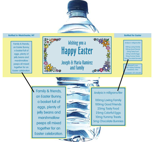 Easter Water Bottle Label