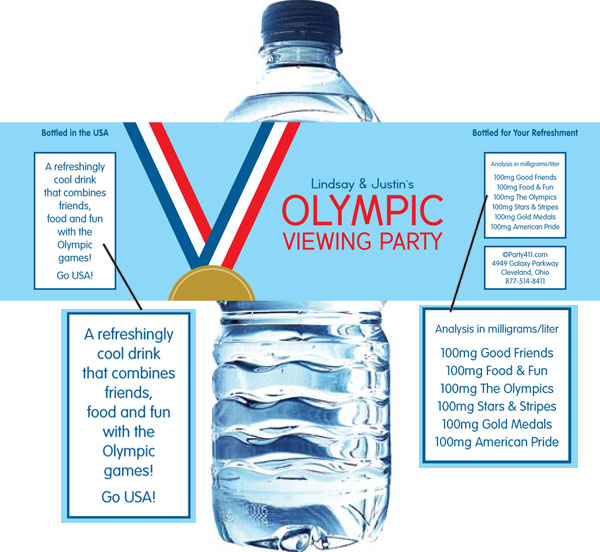 Gold Medal Water Bottle Label