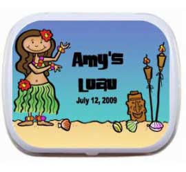 Mint Tin, Beach Luau Theme