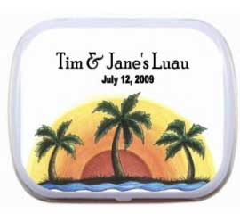 Mint Tin, Luau Palm Trees Theme