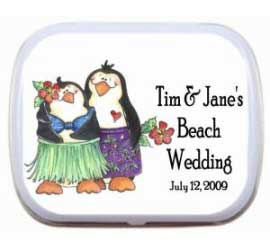 Mint Tin, Luau Penguins Theme