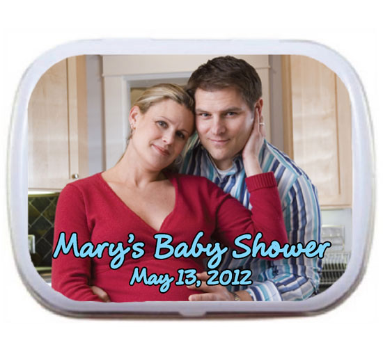 A Custom Baby Shower Photo Mint Tin