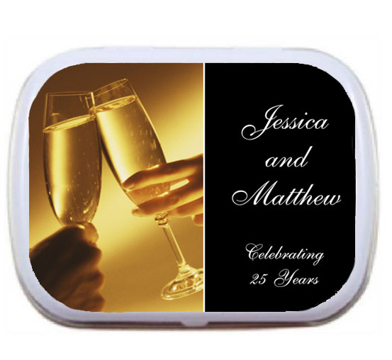Anniversary Champagne Mint Tin