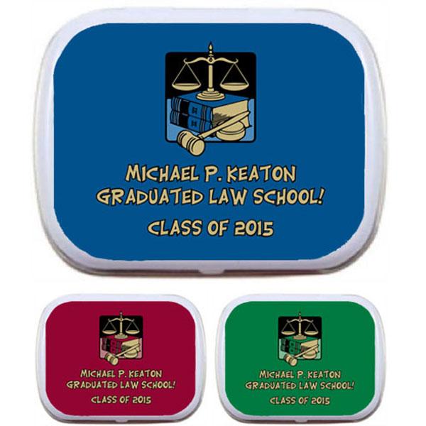 Graduation Law School Mint Tin