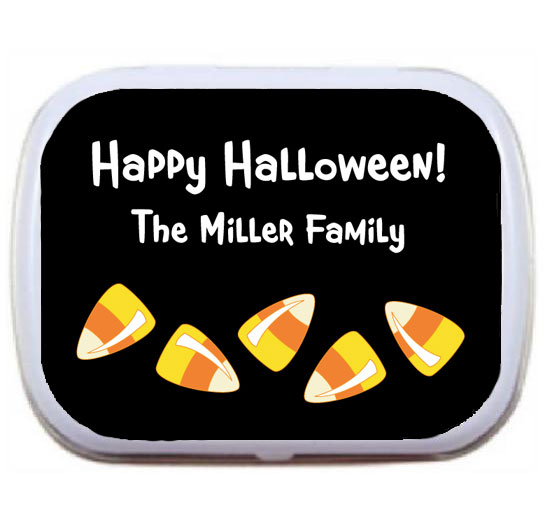 Halloween Sweet Candy Corn Mint Tin