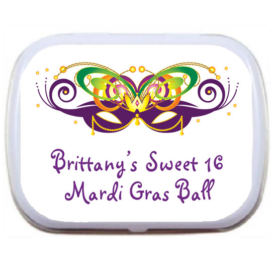 2015 Mardi Gras Ball Theme Mint Tin