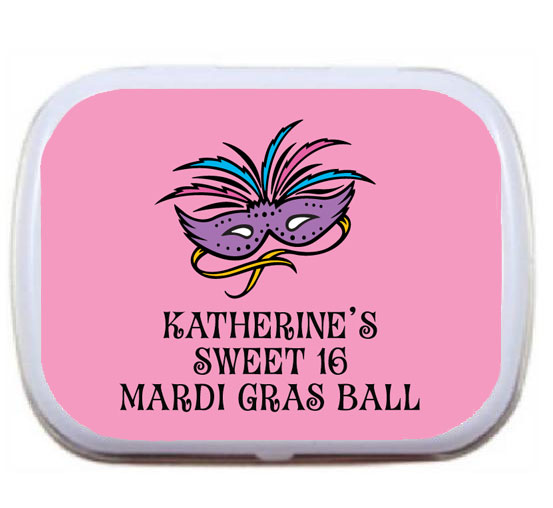Mardi Gras Masks Theme Mint Tin