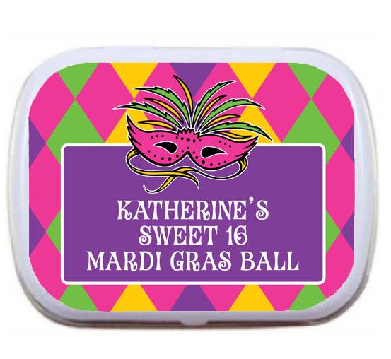 Mardi Gras Party Theme Mint Tin
