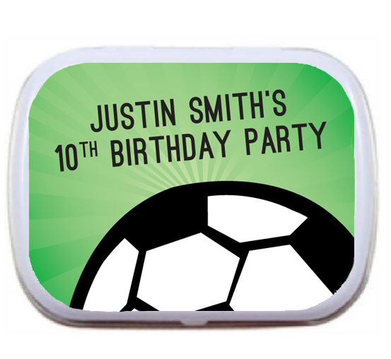 Soccer Ball Party Mint Tin