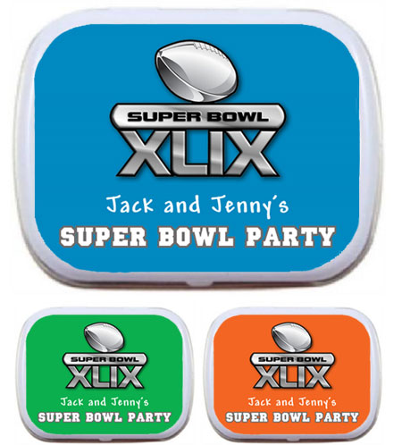 2015 Super Bowl XLIX Theme Mint Tin