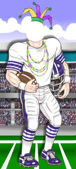 Mardi Gras Super Bowl Photo Op