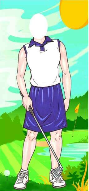 Golfer Female Photo Op