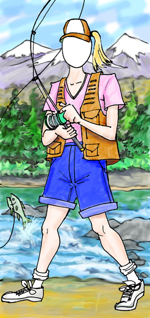 Fishing Female Photo Op