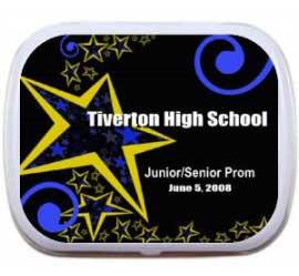 Prom and School Star Theme Dance Mint Tin
