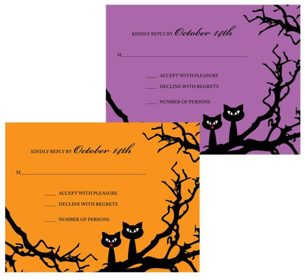 Halloween Wedding Reply Card