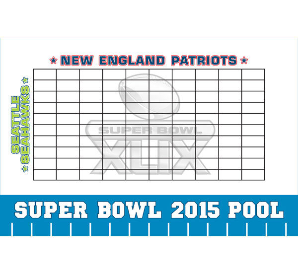 2015 Super Bowl XLIX Theme Pool Board