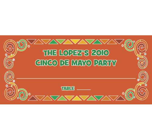 A Mexican Fiesta Theme Seating Card