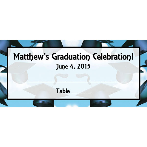Graduation Caps Theme Seating Card