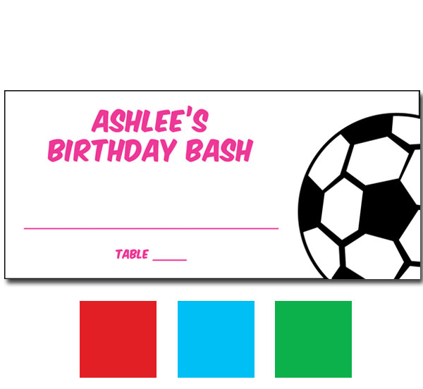 Soccer Girl Seating Card