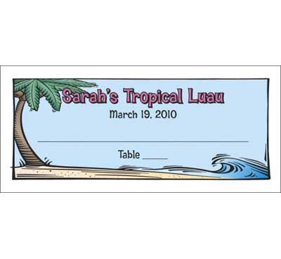 Luau Table Seating Card