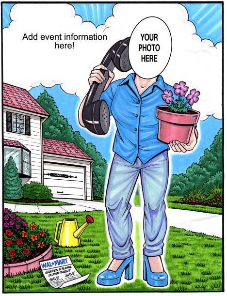 Gardener Semi Custom Caricature