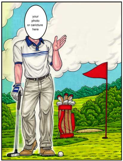 Golf Semi Custom Caricature
