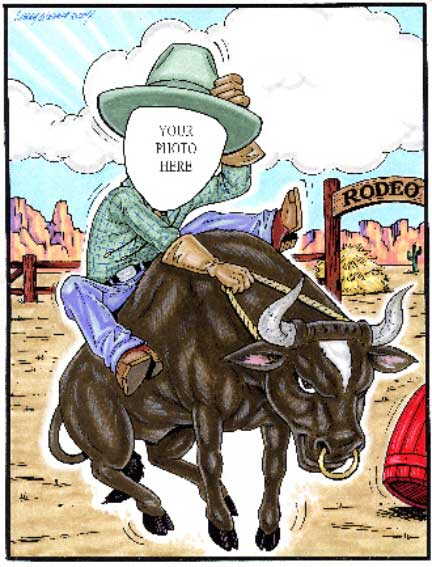 Western Rodeo Semi Custom Caricature
