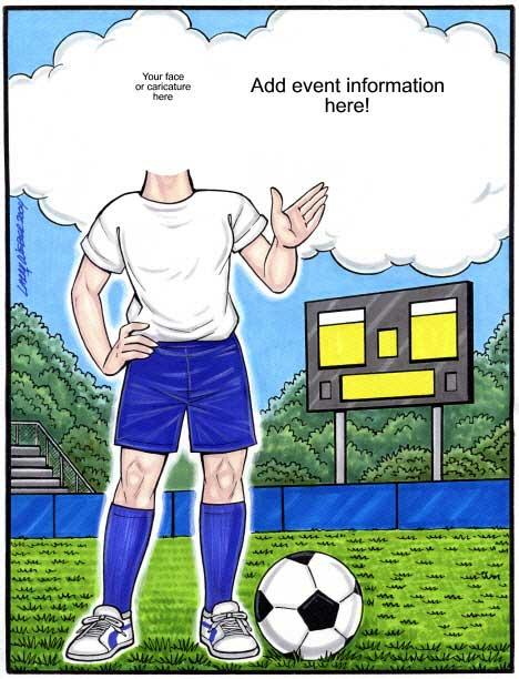 Soccer Semi Custom Caricature