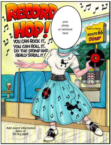 Sock Hop Semi Custom Caricature