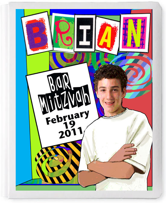 Personalized 3D Basic Sign In Book, Bar Mitzvah Boy