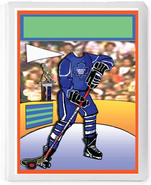 Personalized 3D Sign In Book, Hockey Player