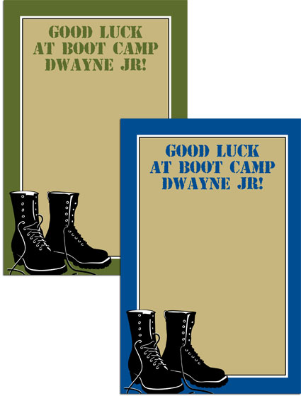 Boot Camp Theme Sign In Board