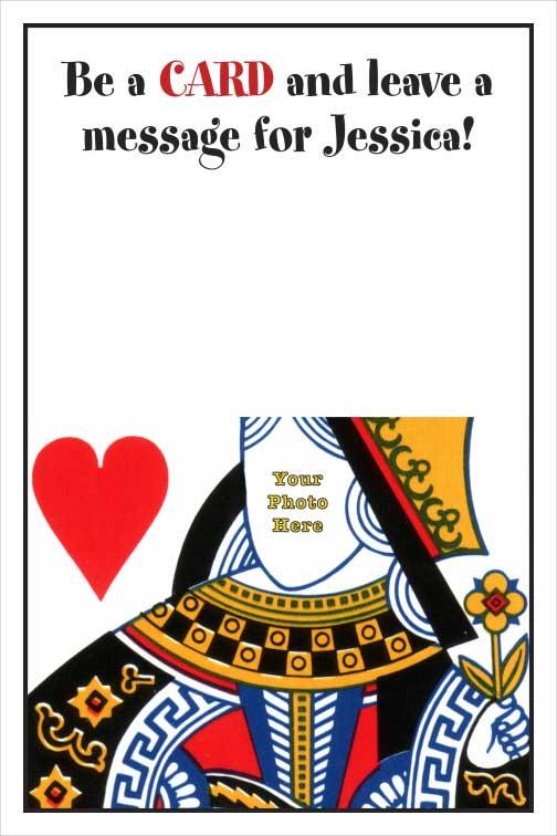Casino Card, Queen Sign In Board