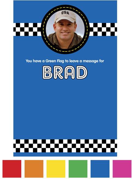 Car Racing Theme Sign In Board
