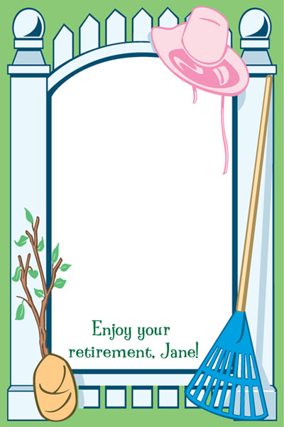 Garden Party Sign In Board