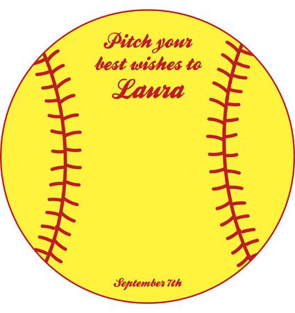 Softball Theme Sign In Board