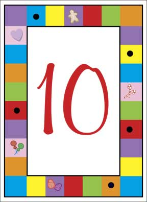 Candyland Theme Table Number