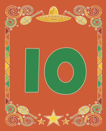 A Mexican Fiesta Theme Table Number