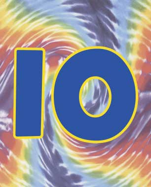 Hippie Tie Dye Table Number