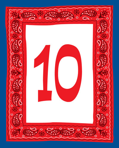 Western Bandana Table Number