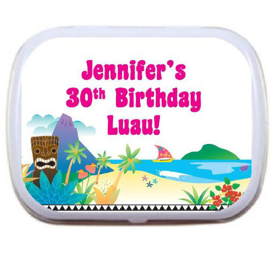 Luau Beach Theme Mint Tin