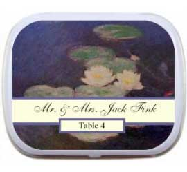Wedding Mint Tin, Water Lilies Impressionist Art