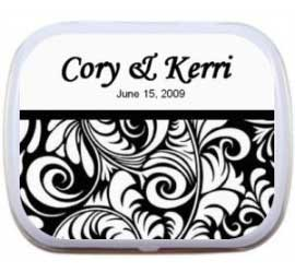 Wedding Mint Tin, Black and White