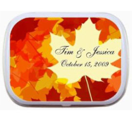 Fall Bright Leaves Theme Mint Tin