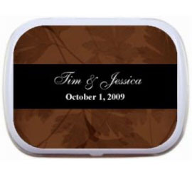 Fall Theme Mint Tin, Classic Brown and Black