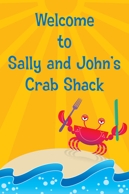 Crab and Clambake Theme Welcome Sign