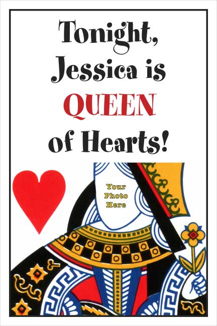 Casino Card Queen Welcome Sign