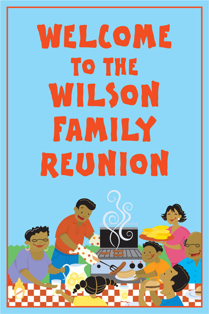 A Family Reunion Welcome Sign