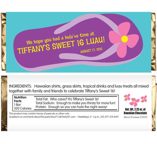 Flip Flop Theme Candy Bar Wrapper